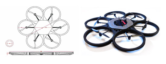 Neopter is a drone designed for outdoor spectacles