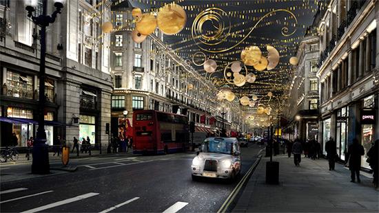 Regent Street Christmas Lighting