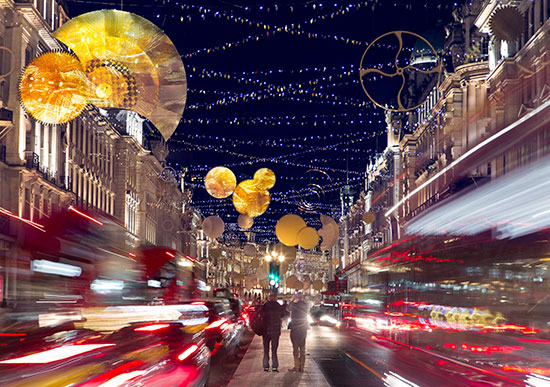 ACTLD Regent Street Christmas Light Art Installation in London