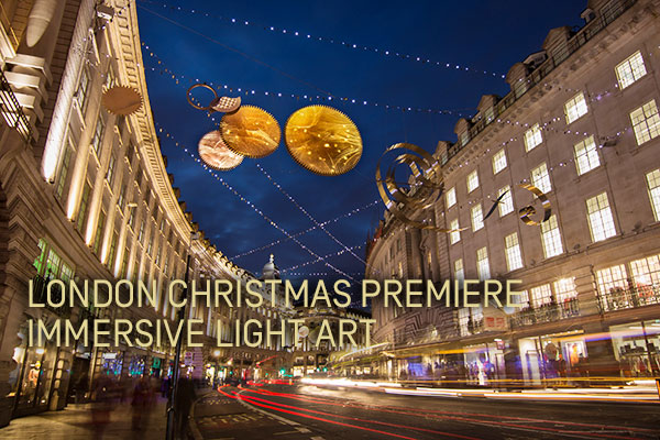 ACTLD Timeless Elegance London Christmas Light Art Installation